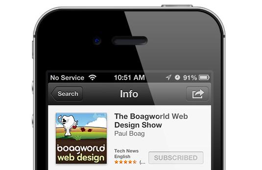 Web design podcasts:Boagworld