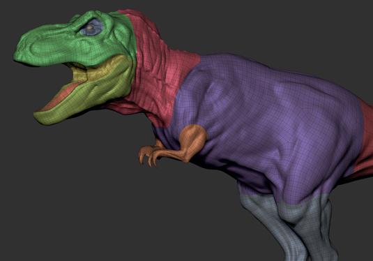 How to create a realistic 3D dinosaur