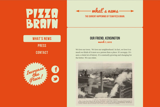 Examples of CSS: Pizza Brain