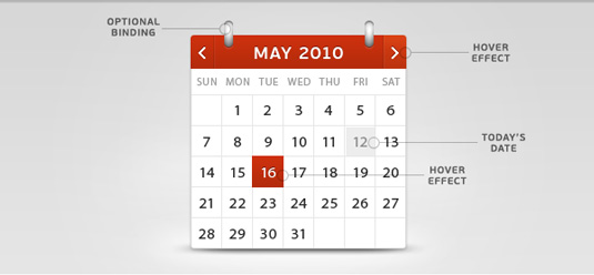 Design Calendar Using Css : Css and javascript tutorials to boost your skills