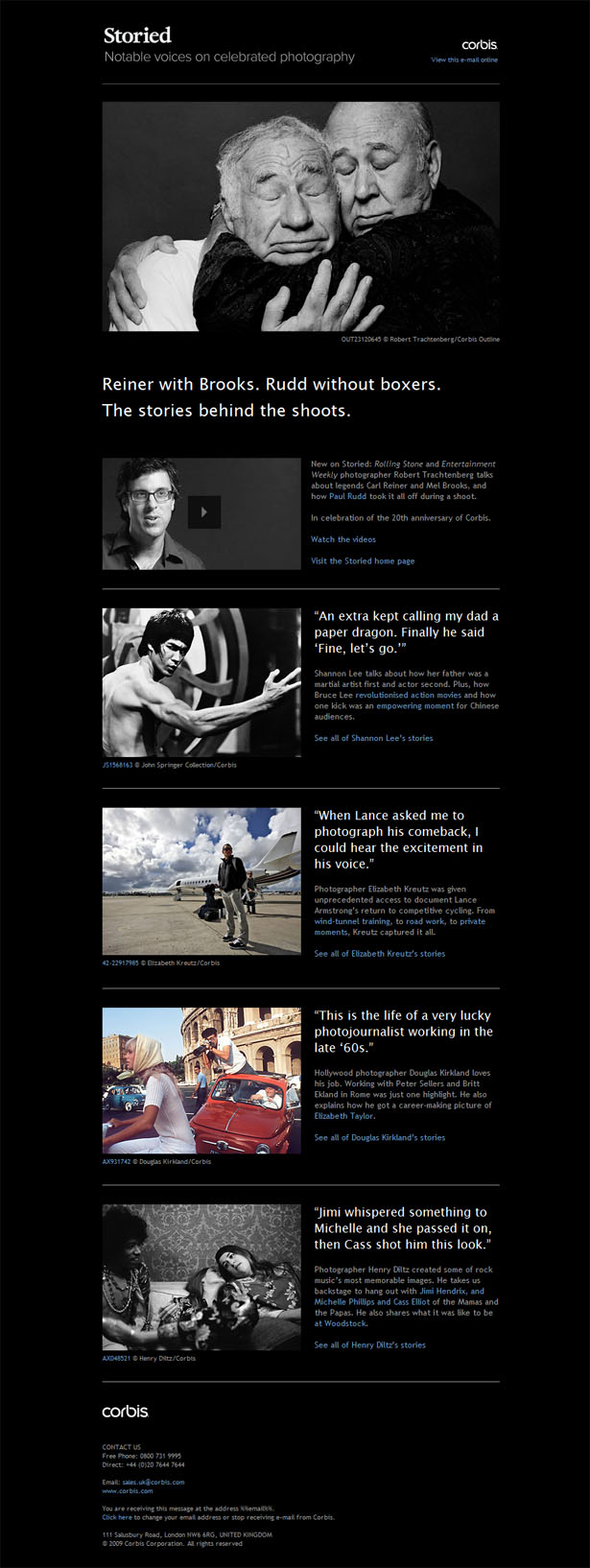 Email newsletter designs: Storied