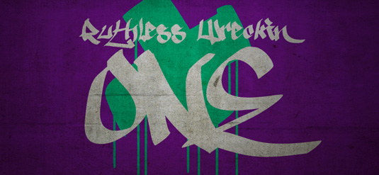 Graffiti font Ruthless One