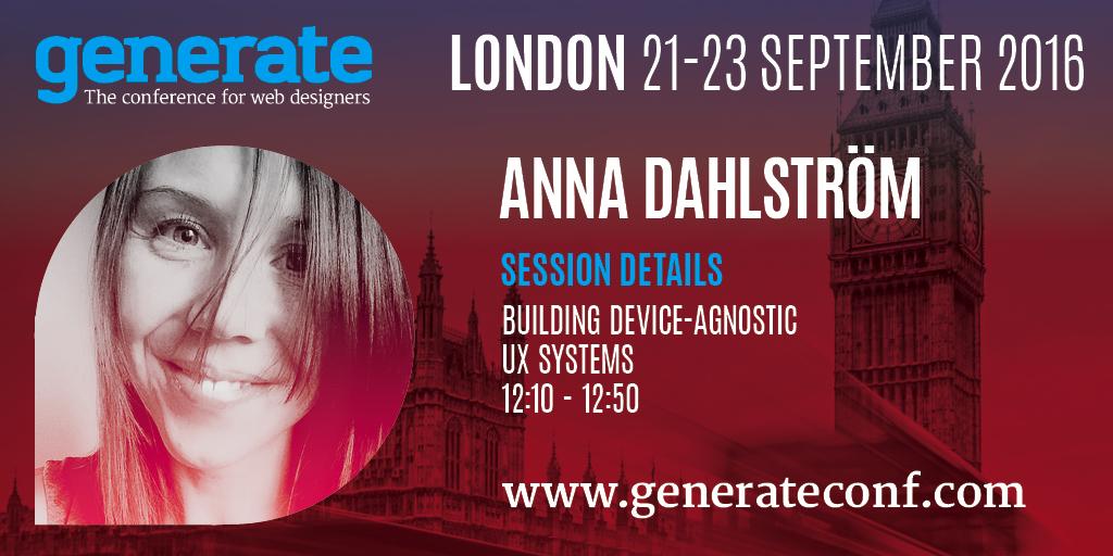Generate London - Anna Dahlström
