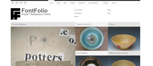 Free Drupal theme: FontFolio