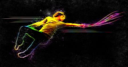 vibrant jumping man