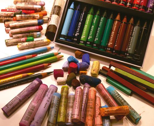 Pastel drawing: Tools