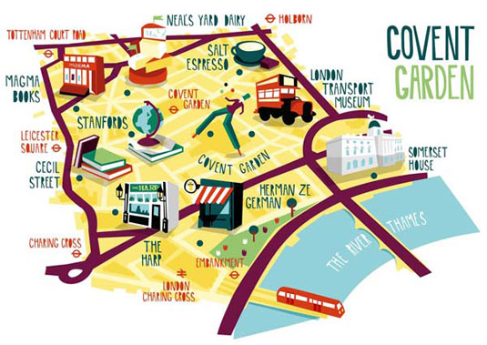 illustrated maps: covent garden