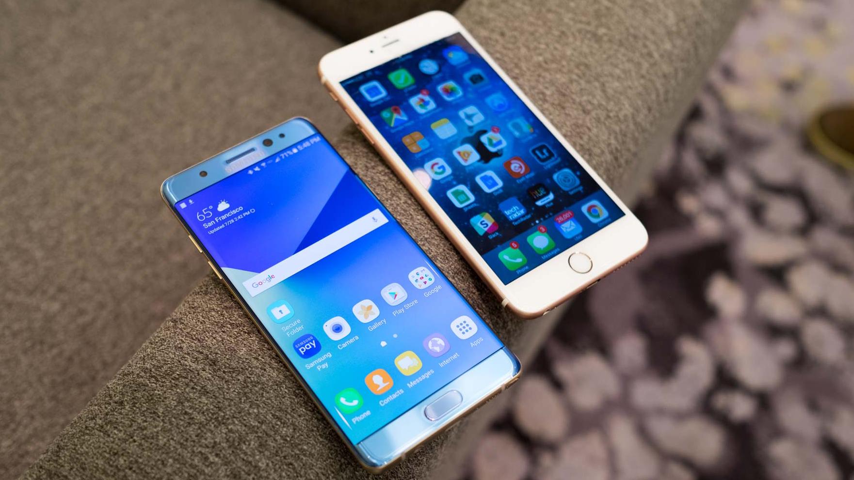 Note 7 vs iPhone 6S Plus