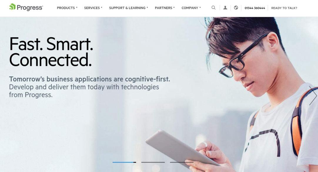 Progress homepage