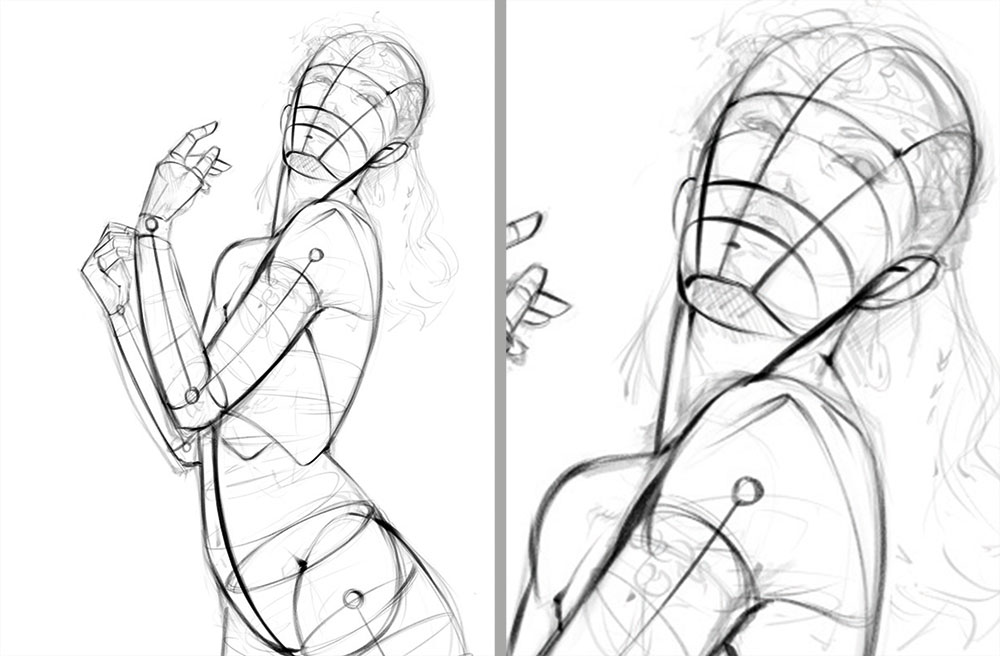 How to create a believable character - Refining the sketch