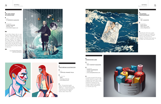 Another spread from the Editorial section of the Illustration Annual