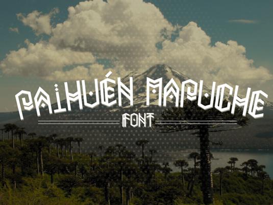 Free font: Paihuen Mapuche
