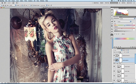 Retouch images with frequency separation: step 12
