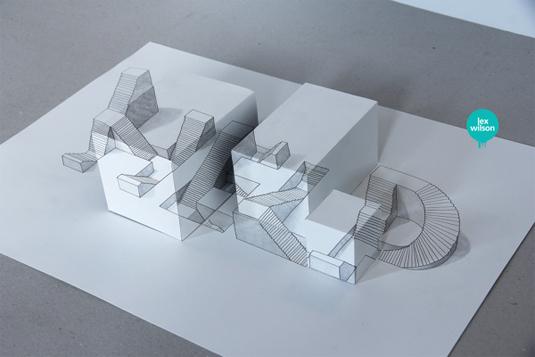 Anamorphoses typography
