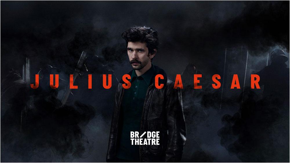 Promotional poster for Bridge Theatre's Julius Caesar