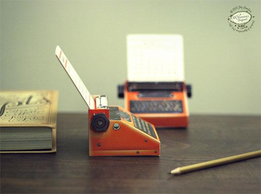 printable typewriter calendar
