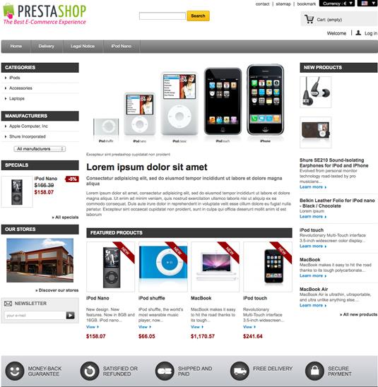 Website builder: PrestaShop