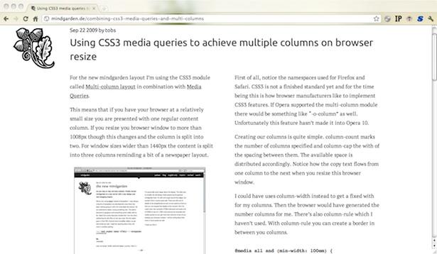 Multicolumn, responsive design at two columns