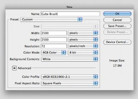 Create bespoke brush - cs5
