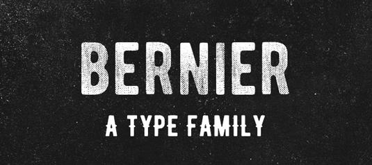 Free font: Bernier