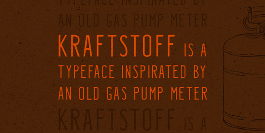 Free font: Kraftstoff