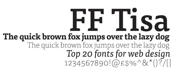 Web fonts: FF Tisa