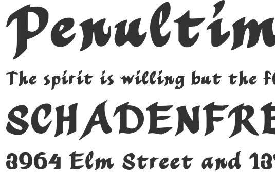 Free brush fonts: Mothproof Script