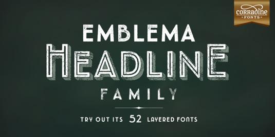 Emblema Headline font