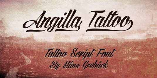 Tattoo fonts: Angilla