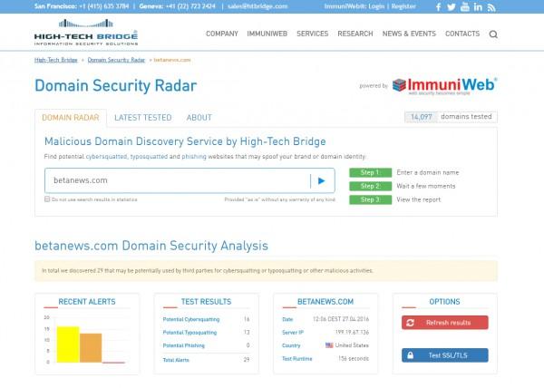 Domain Security Radar