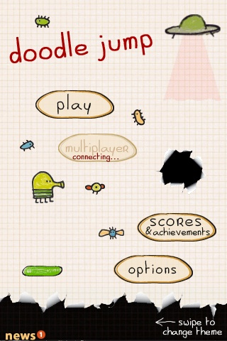 By only making use of the iPhone accelerometer to control the game, Doodle Jump is incredibly simple to play