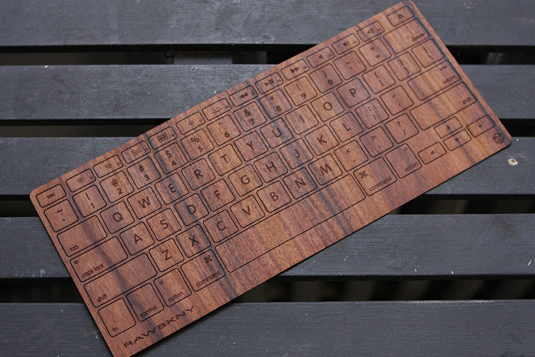 Wooden Macbook keyboard 4