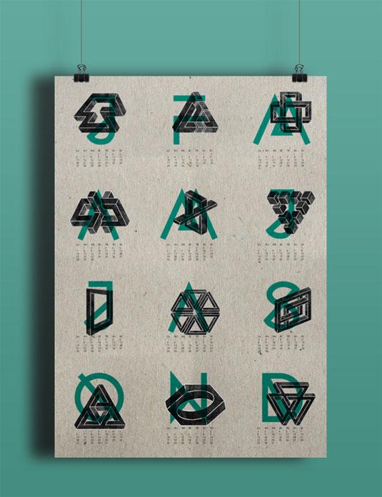 Typography Printable Calendar : Amazing calendar designs for creative bloq