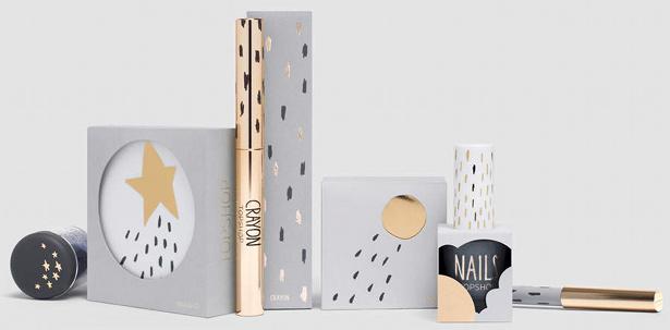 Topshop make-up range, designed by sarah Thorne