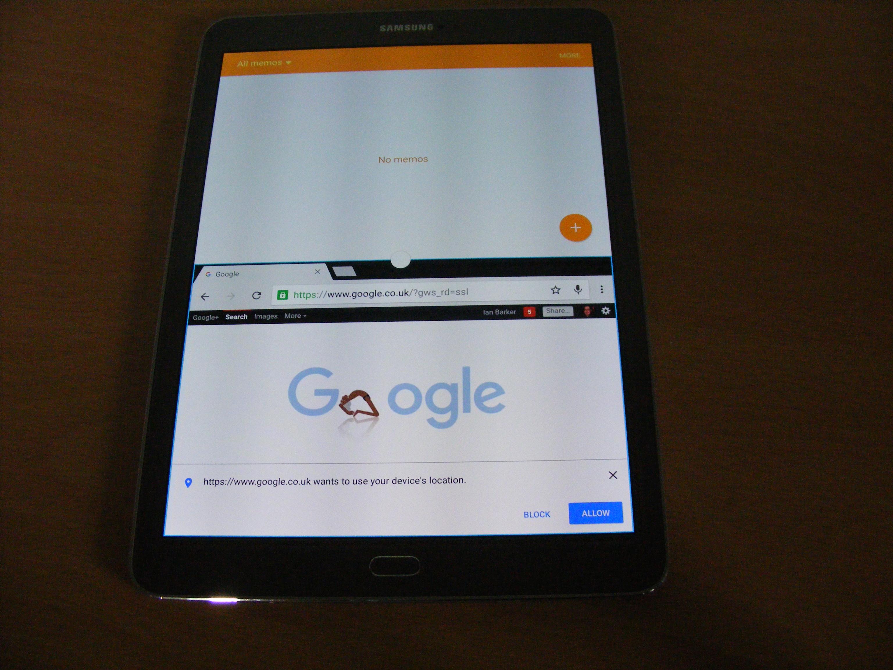 Galaxy Tab multi window