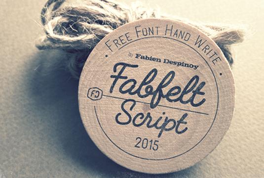 Free font: Fabfelt Script