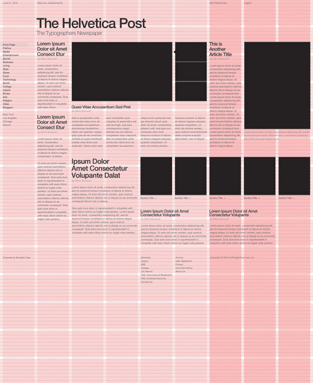 Grid-based web design: main image