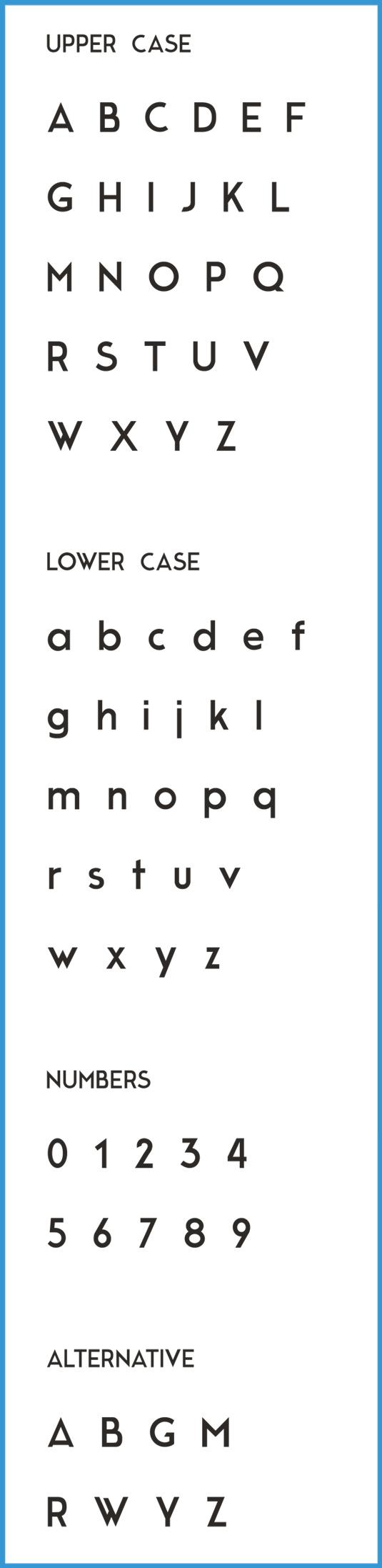 Free font: Moderne Sans
