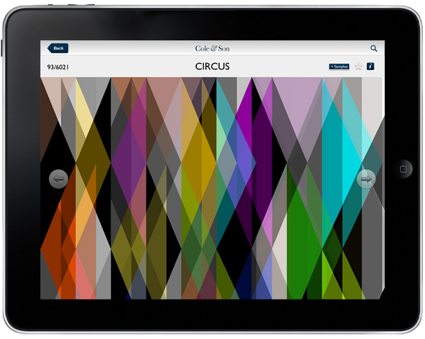 Structure - Cole & Son iPad app