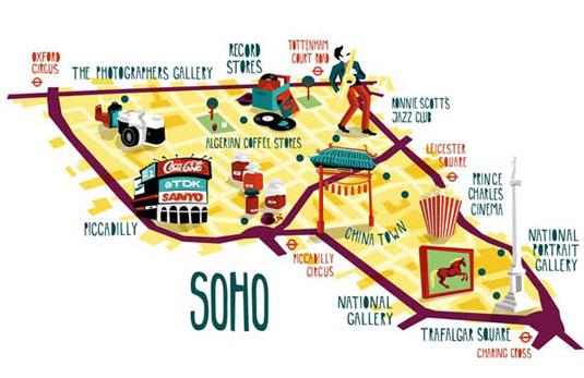 illustrated maps: soho