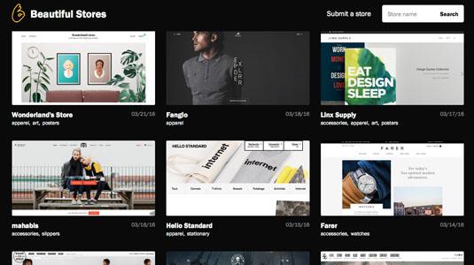 web design tools: beautiful stores