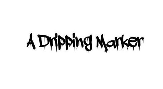 Graffiti font A Dripping Marker