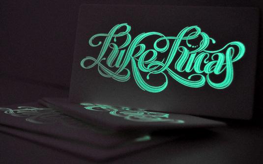 Letterpress business cards: Luke Lucas