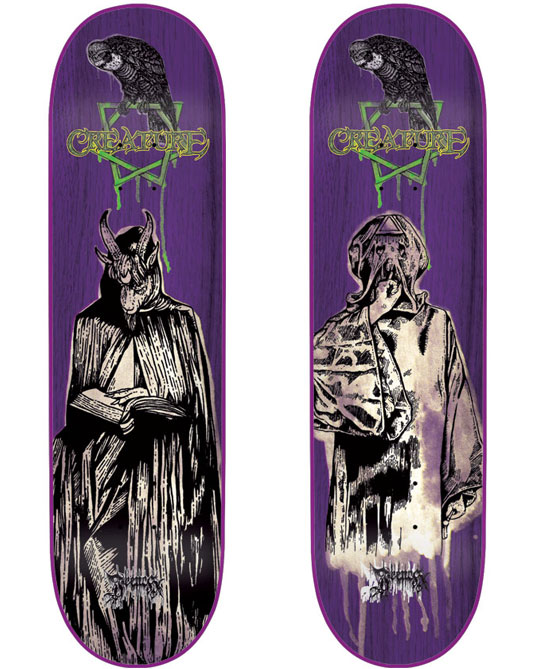 Skateboard designs: Illuminati series