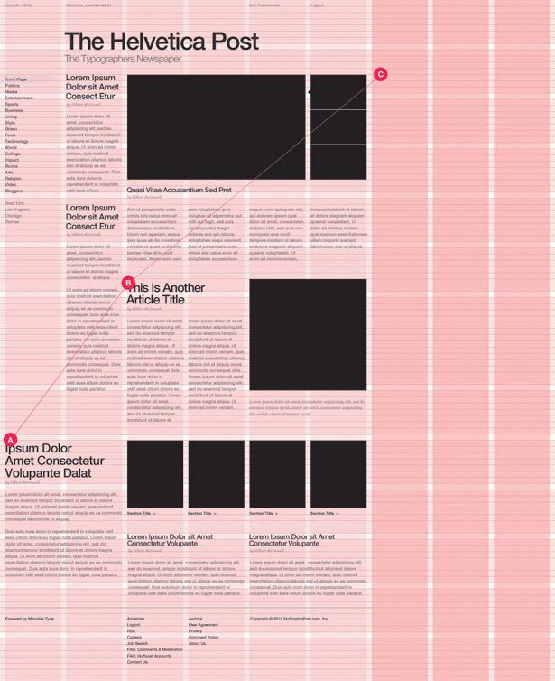 Grid-based web design: 1440 resolution