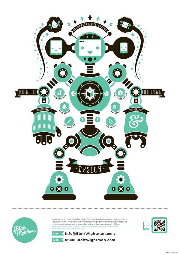 Blair Wightman - Robot poster