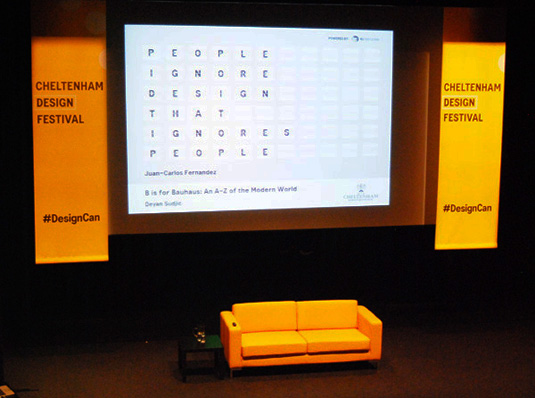 The Yellow Sofa at Cheltenham Design Festival