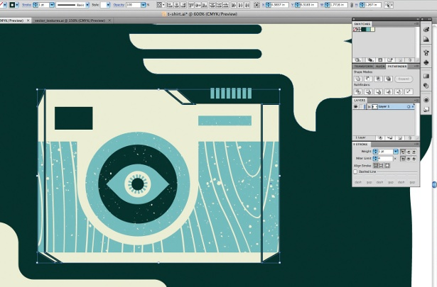 Create retro graphics in Illustrator: step 7
