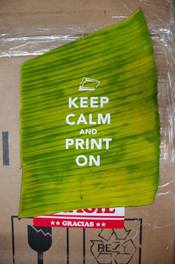 Tind - Silkscreen Printing on Banana Leaves