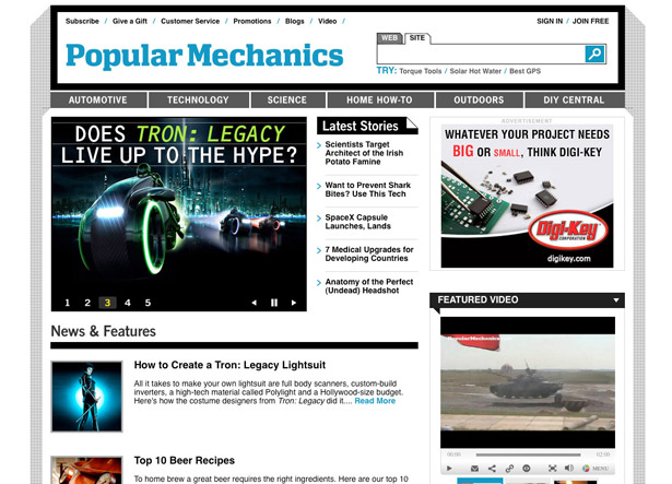 Which tech podcast: Popular Mechanics